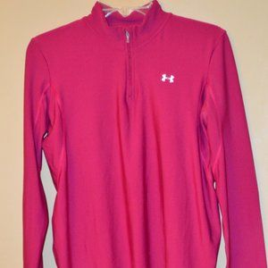 Under Armour pink cold gear jacket - size Large.